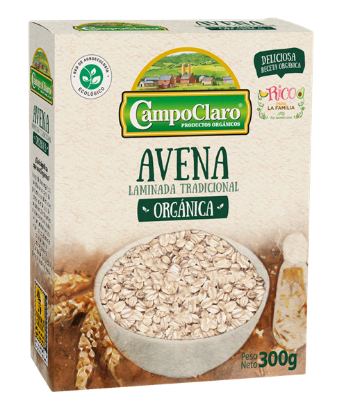 Imagen de AVENA ORGÁNICA CAMPO CLARO 300g
